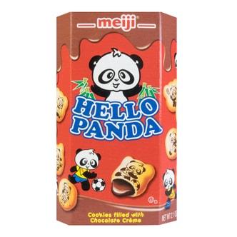 日本MEIJI明治 熊猫巧克力夹心饼干 60g