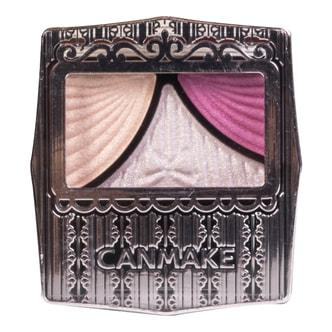 日本CANMAKE 蝴蝶结清透水漾三色眼影盒 #09温柔粉紫色 1.2g