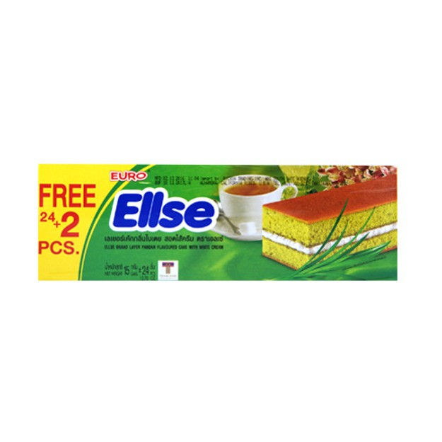 商品详情 - 泰国EURO ELLSE 奶油夹心小蛋糕 香兰味 24+2枚入 - image  0
