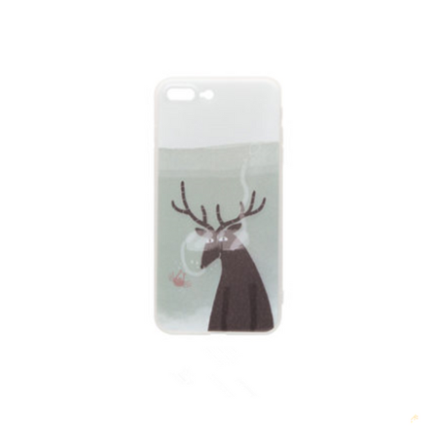Product Detail - MAOXIN Original Art  Illustrations Island Series Apple Cell Phone Case For  iPhone7P / iPhone8P  Brown Deer  1PC - image 0