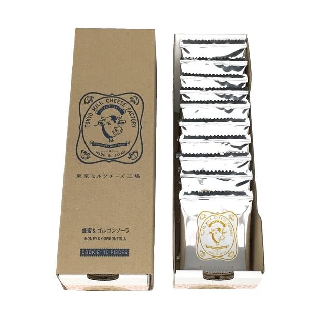 商品详情 - 【日本直邮】 东京牛奶芝士工厂 蜂蜜古冈左拉芝士饼干 10枚装 - image  0