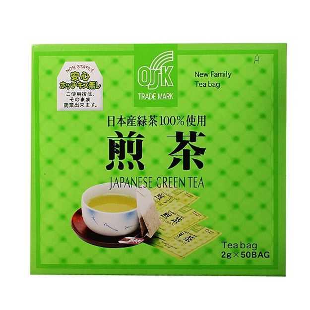 Product Detail - OSK 100% Japanese Green Tea Leaves 2g x 50bags - image  0
