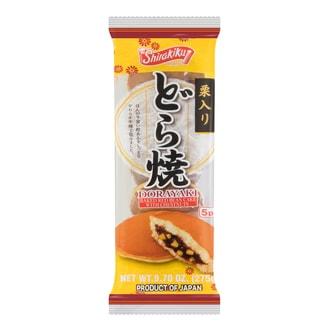 日本SHIRAKIKU赞岐屋 传统红豆栗子铜锣烧 5枚入 275g 保质期60天