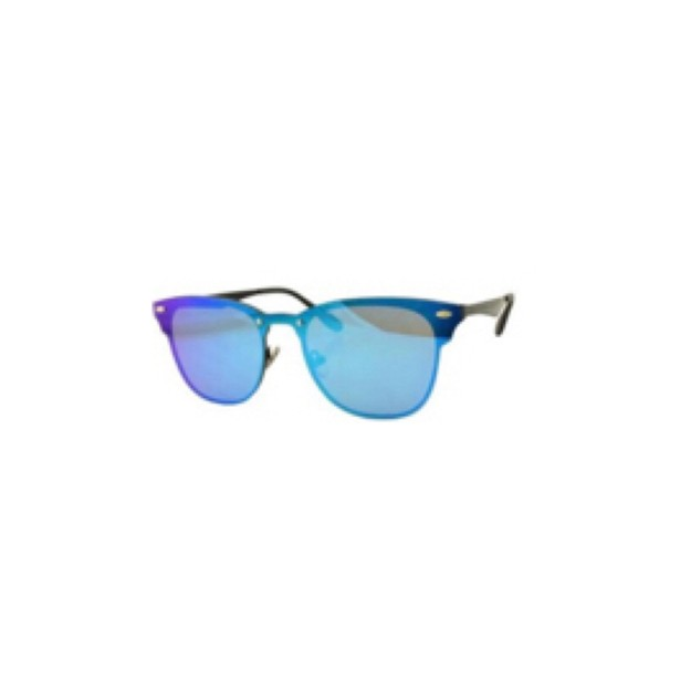 Product Detail - RETRO POP Fashion Sunglasses 8185 Black Frame/Blue Mirror - image  0
