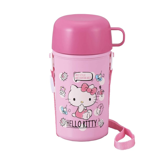 Product Detail - OSK Hello Kitty Water Bottle With Cup for Toddle and Kids 450ml - image 0
