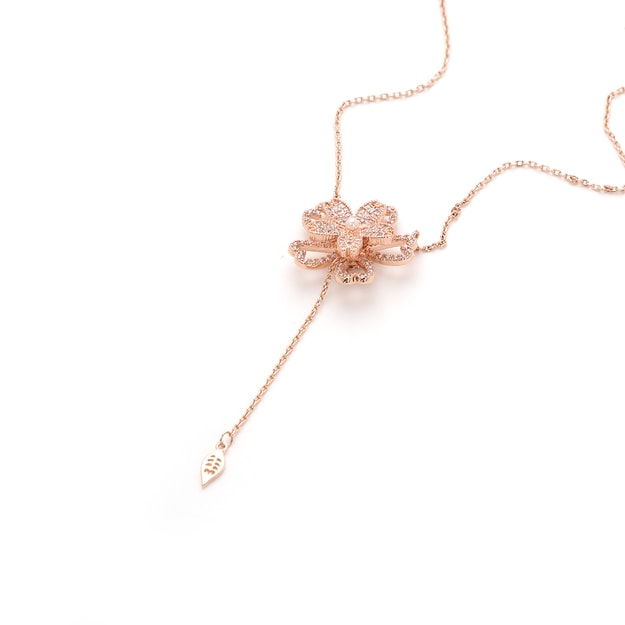 IHUSH Fleur de Cerisier Necklace (Rose gold color) 1piece