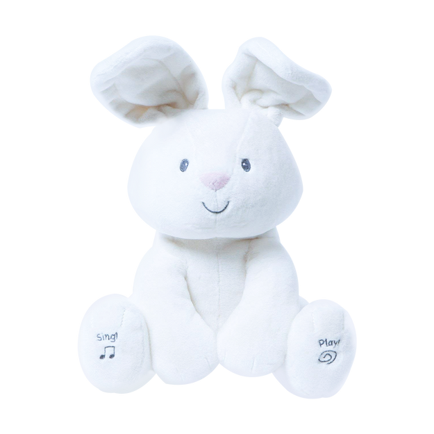 """商品详情 - GUND Flora 12\"""" 可爱毛绒动物玩具 #兔子 带有音乐和捉迷藏功能 圣诞新年生日礼物 - image  0"""