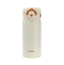 THERMOS Portable Vacuum Warm Keeping Bottle (One Touch Open) Cream White 0.35L