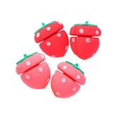 ETUDE HOUSE My Beauty Tool Strawberry Sponge Hair Curlers 4 Pieces
