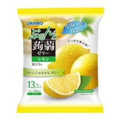 【日本直邮】DHL直邮3-5天到 日本ORIHIRO 低卡蒟蒻果冻 柠檬味 6枚装