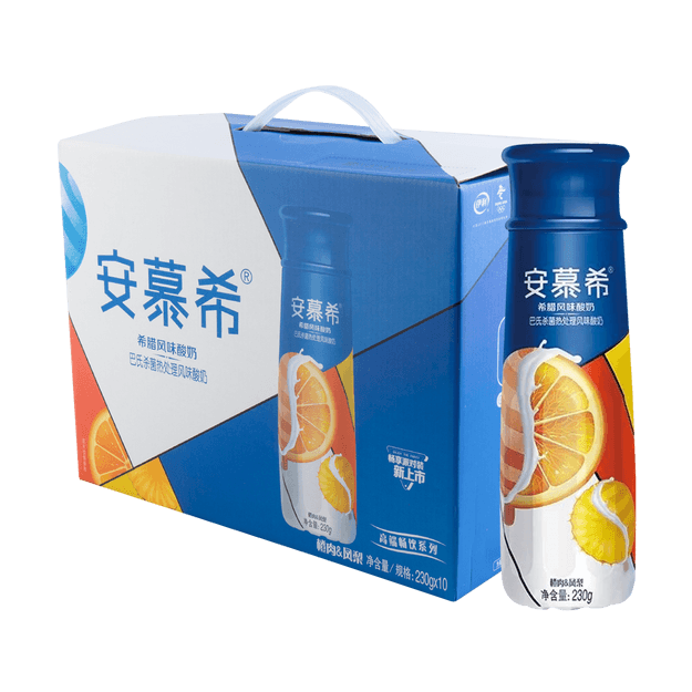 Product Detail - 【Value Set】AMBROSIAL High End Drink Series Orange&Pineapple Flavored Yogurt 230g*10 Pack of 10 - image 0