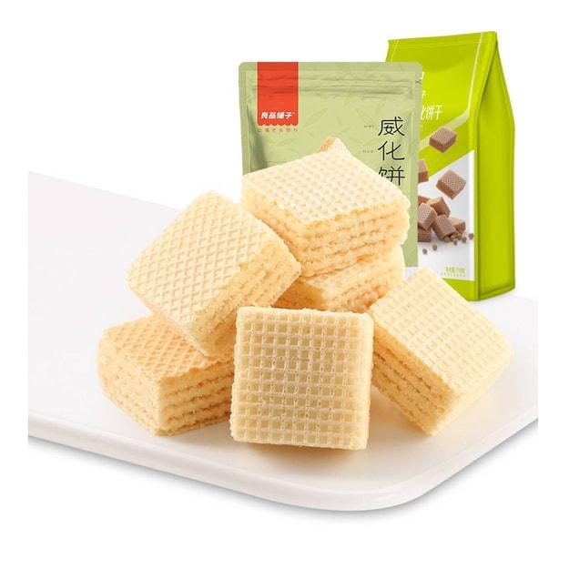 商品详情 - [中国直邮] BESTORE 良品铺子牛奶威化饼干118g - image  0