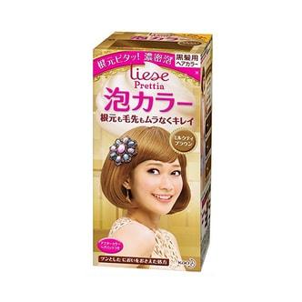 KAO LIESE PRETTIA Bubble Hair Dye #Milk Tea Brown 1Set