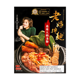 Mom's Dry Noodle Spicy Hot Pot Flavor 135g