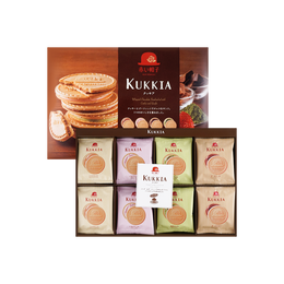 KUKKIA Whipped Chocolate Sandwiched with Cookie 4 Flavor 48pcs 374g