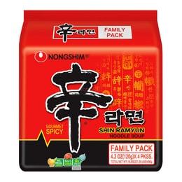 韩国NONGSHIM农心 速食辛拉面 红色系列 4包入 480g