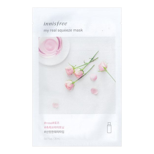 INNISFREE My real squeeze mask  Rose 1sheet
