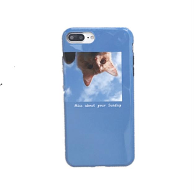 商品详情 - [中国直邮]  乐学办公  LEARN&WORK北欧风格冷淡风苹果手机壳 款式 猫咪女 适用于iPhone7 Plus / iPhone8 Plus  - image  0
