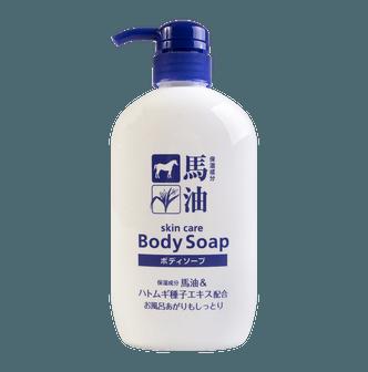 日本熊野油脂 马油薏仁极润沐浴乳 600ml