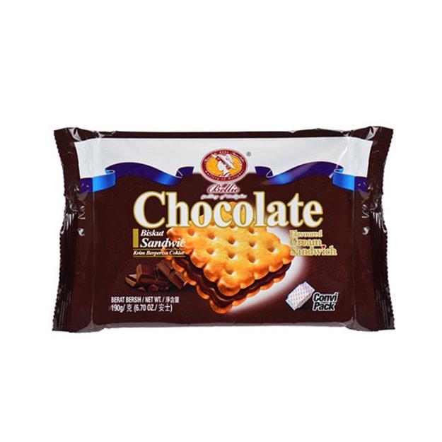 商品详情 - 马来西亚BELLIE美乐贝尔 巧克力夹心饼干 190g - image  0