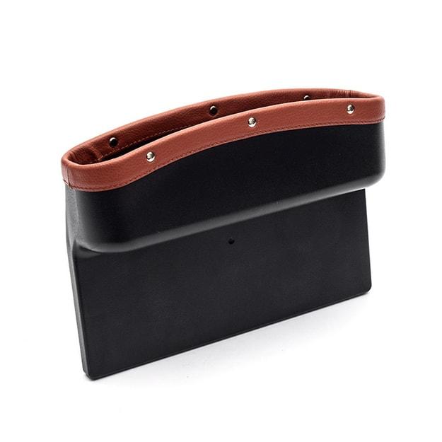 Product Detail - LORDUPHOLD Car Seat Crevice Storage Box Seat Slit Pocket Catcher Organizer Universal Card Phone Holder Brown 1 pc - image  0