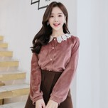 ATTRANGS Blouse Pink(model) free size