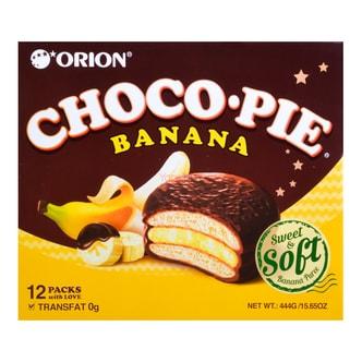 韩国ORION好丽友 香蕉夹心巧克力派 12枚入