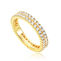 JDREY 14K Two Row Stackable Eternity Ring 1 Piece