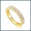 珍特丽 14K 闪亮闪亮的戒指 一只