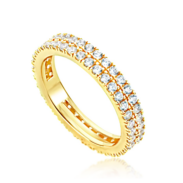 Product Detail - JDREY 14K Two Row Stackable Eternity Ring 1 Piece - image 0