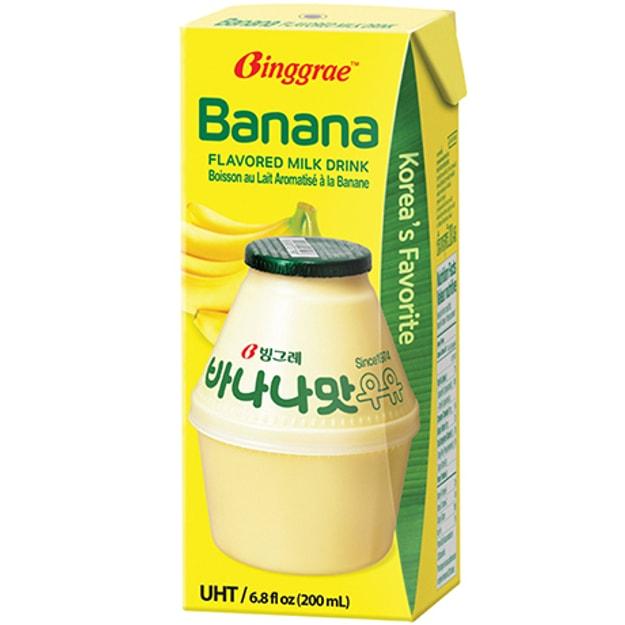 商品详情 - 韩国BINGGRAE 牛奶 香蕉味 6x200ml - image  0