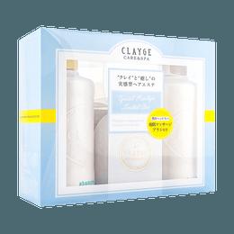 日本CLAYGE S 温冷SPA洗发水500ml+护发素500ml套组 赠按摩梳 蓬松清爽型 #花朵幽香 COSME大赏第一位