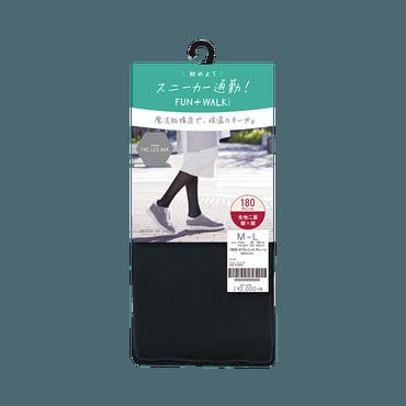 ATSUGI 厚木||BAR 双层针织素色保暖防静电尼龙裤袜||180D M-L 1件
