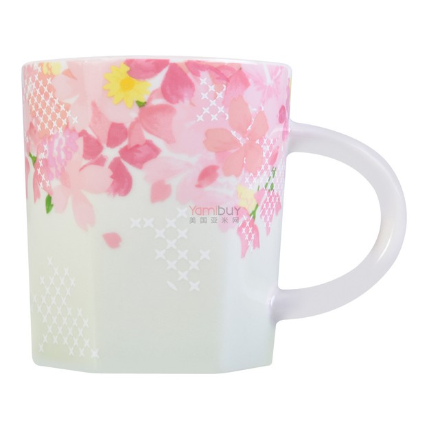 Ceramic 2017 Mug Limited 237ml Sakura Japan Starbucks Edition Hexagon wPOnk0