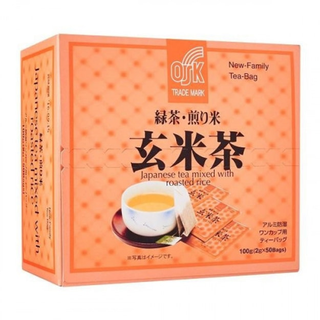 Product Detail - OSK Japanese Tea Mixed With Roasted Rice 2g x 50bags - image  0