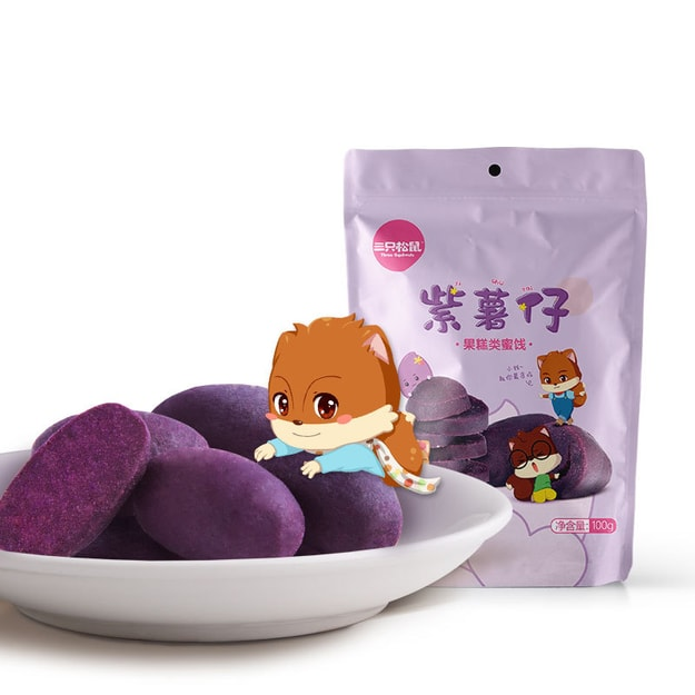 Product Detail - THREE SQUIRRELS-Purple potato 100g - image 0
