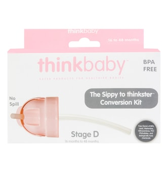 THINKBABY Sippy Cup or Bottle Conversion Kit Into Thinkster Straw bottle #Pink