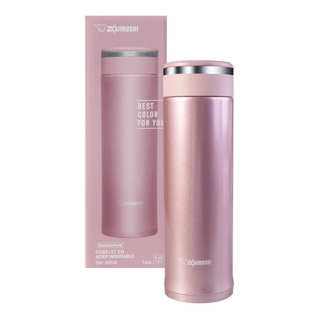 Product Detail - ZOJIRUSHI Stainless Steel Thermal Bottle Pink 480ml SM-JHE48PR - image 0