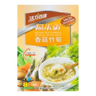 台湾健康时代 活力百汇 香菇竹笋糙米粥 6袋入 240g