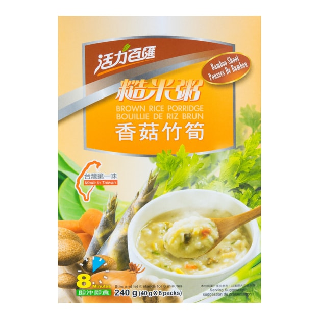 HEALTH STYLE Brown Rice Porridge with Bamboo Shoot 6pcs