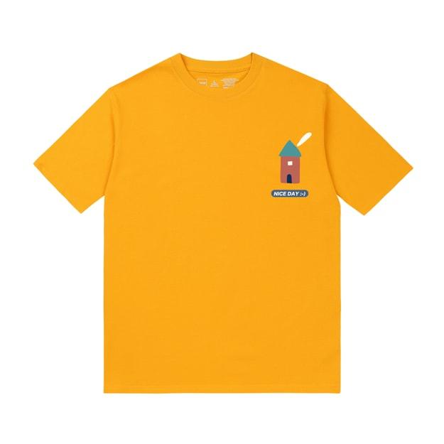 商品详情 - PROD幼儿园小房子宽松短袖T恤纯棉半袖初秋上衣黄色S号 - image  0