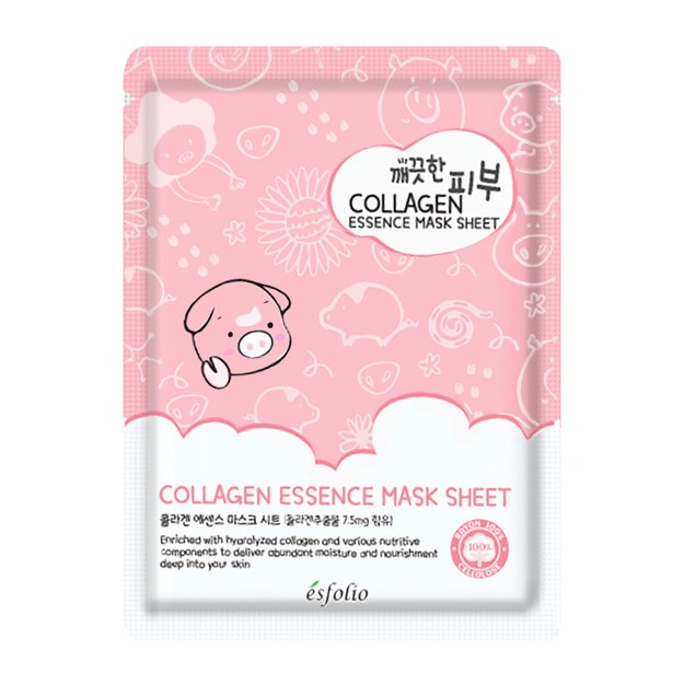 Product Detail - ESFOLIO Pure Skin Collagen Essence Mask 1 Sheet - image 0