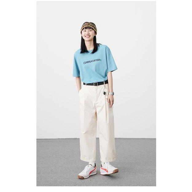 商品详情 - PROD春季新款 Corrugated Graphics 纯棉短袖T恤 浅蓝色 - M - image  0