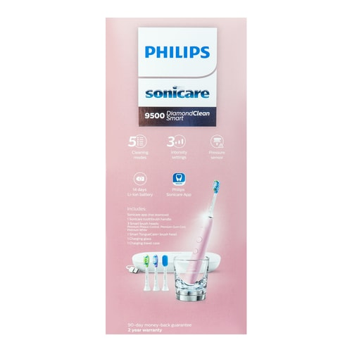 PHILIPS Sonicare Diamond Clean Smart Rechargeable Toothbrush with USB Charging Case Pink Edition 9500 HX9924/21