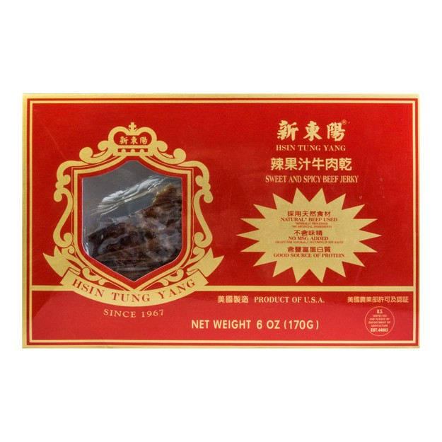 Product Detail - HSINTUNGYANG Hot Fruit Flavored Beef Jerky 170g USDA Certified - image 0
