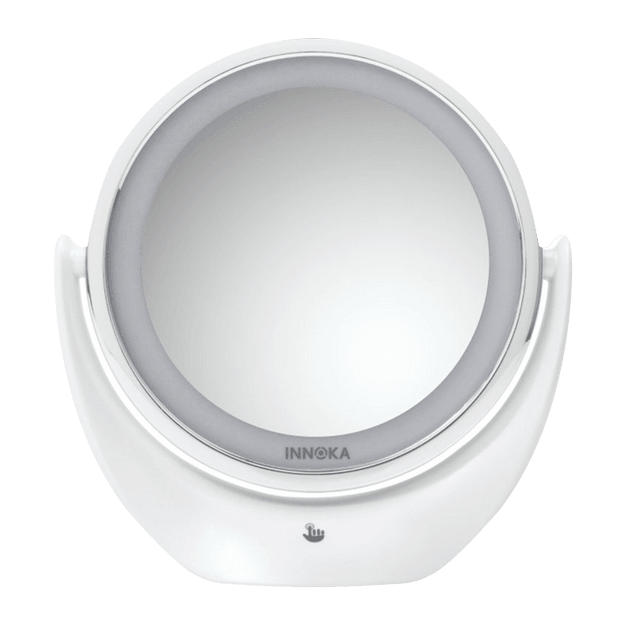 Product Detail - INNOKA Rechargeable Adjustable Light Double Sided LED Makeup Mirror 360 Degree Swivel Rotation 1x/5x - image 0