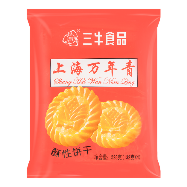 商品详情 - 三牛食品 上海万年青酥性饼干 4包入 528g - image  0