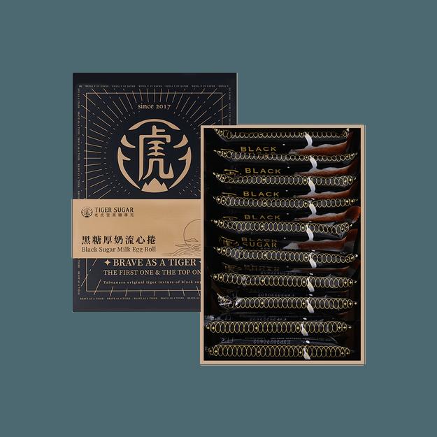 商品详情 - 老虎堂 黑糖厚奶流心蛋巻 捲心流金礼盒 - image  0