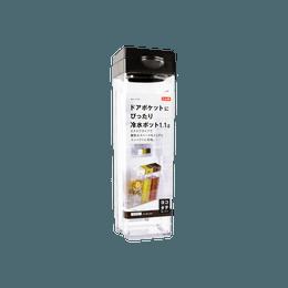 日本  Pearl 金属 塑胶冷水壶 1.1L 棕色