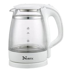 NARITA Double Wall Electric Glass Water Kettle 1.0L GK1201D (1 Year Mfg Warranty)